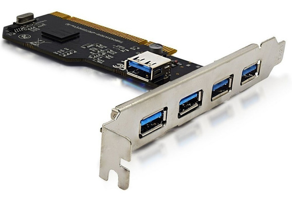 Placa Pci Usb 2.0 Pc Com 5 Portas Knup Hb-t74