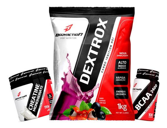 Combo Dextrox + Creatine Powder + Bcaa 2400 - Body Action
