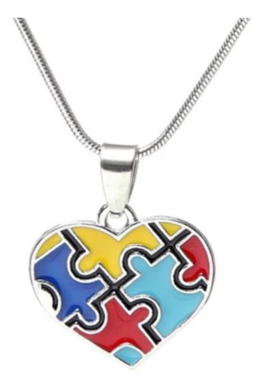 Autismo,dije,cadena,collar,concientización.