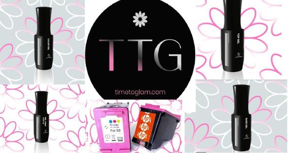Kit T T G Para Trabajar Uñas Gel Coat Impresora / Semiperm.