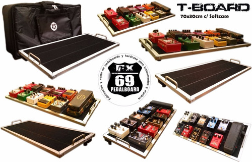 Pedalboard T-board 70x30cm (pedales Guitarra Bajo Boss Vox)