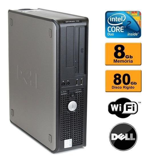Cpu Desktop Dell Optiplex Core 2 Duo E8200 8gb Hd 80gb