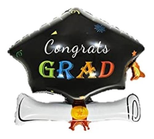 Globo Metalizado Grado Graduación 61*63cm Sombrero