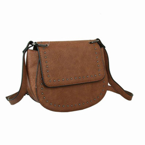 Bolsa Lateral Arredondada Mini Rebite Café - Zap Accessories