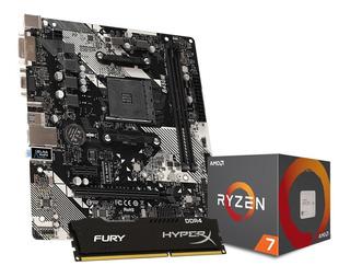 Combo Actualizacion Gamer Amd Ryzen 7 2700x + Mother + 8gb