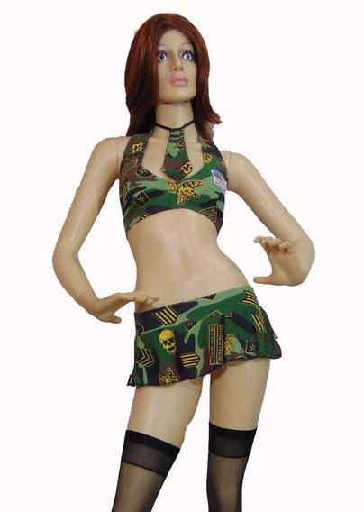 Disfraz Sexy Militar Lycra