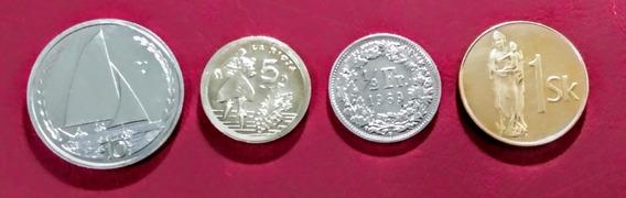 Monedas De Europa 15 Isla De Man Y Otros Países