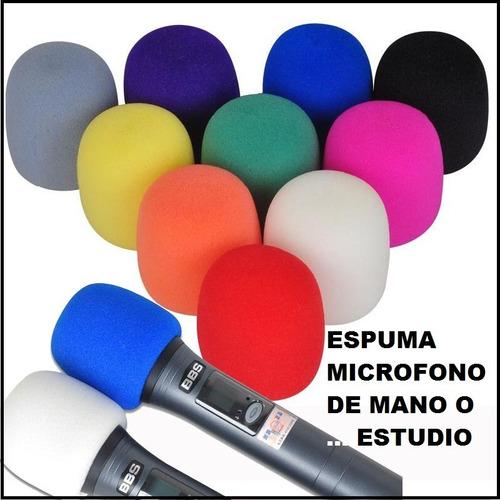 Espuma Microfono Grande De Mano O Estudio Entrega Inmediata