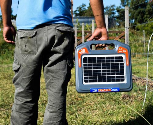 Electrificador Picana Solar Compacto 20km+regalo 20 Varillas
