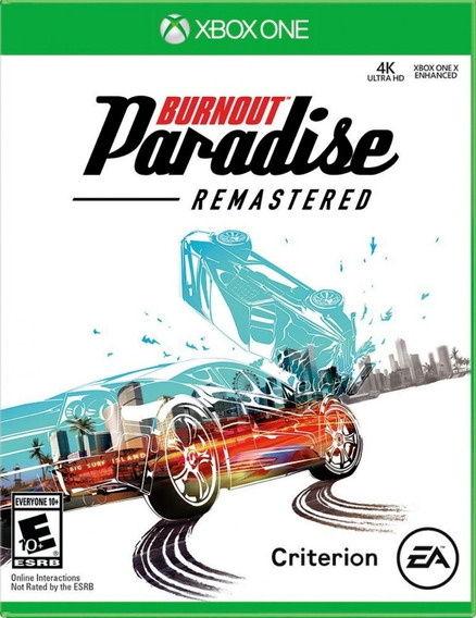 Burnout Paradise Remaster Xbox One Mídia Física Corrida