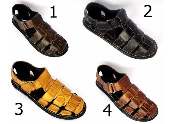 Kit 4 Sandalias De Couro Masculina Fechada Preço De Fabrica