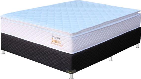Sommier 2 Plazas Esp. Deseo´s Despertar Ortop. C/pillow D45