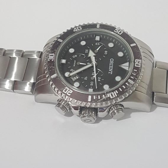 Relógio Orient Cronografo 100m Tido Original Muito Bonito