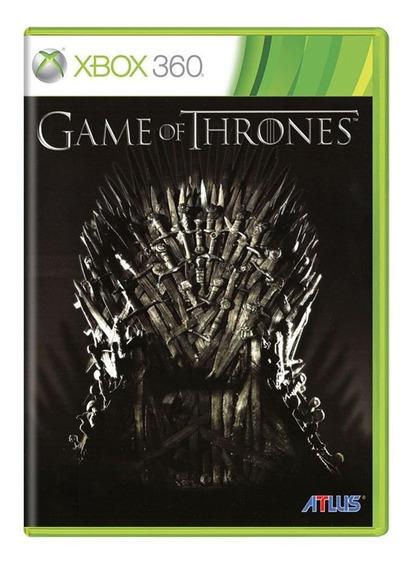 Game Of Thrones Xbox 360 | Mídia Física Original