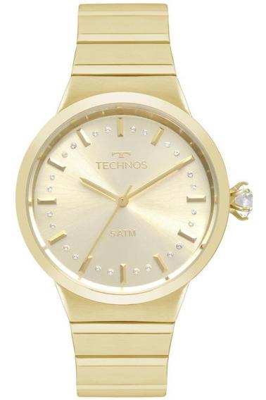Relógio Feminino Technos Icon 2036mjt/4x 40mm Aço Dourado