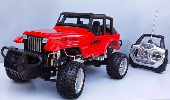 Carrinho Jeep 1/12 Jipe Controle Remoto Farol Led