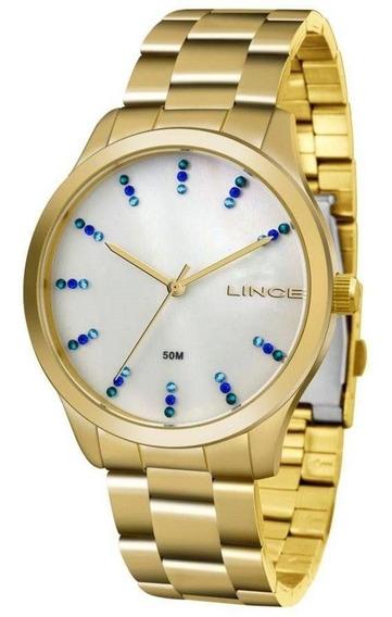 Relógio Feminino Lince Casual Lrg4445l B1kx - Dourado