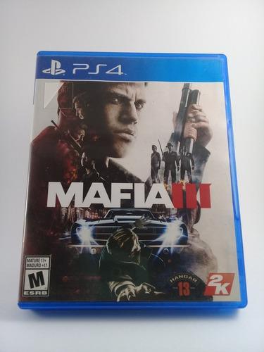 Juego Ps4 Mafia 3 Fisico! Impecable!!