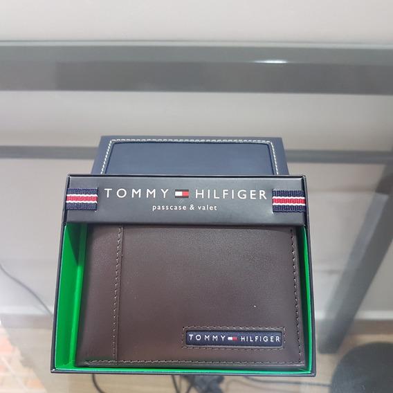 Carteira Tommy Hilfiger Masculina Original Couro Marrom