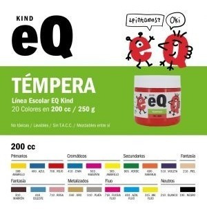 Tempera En Pote Eqarte 250 Gs Vs Colores Apilables Pack X10u
