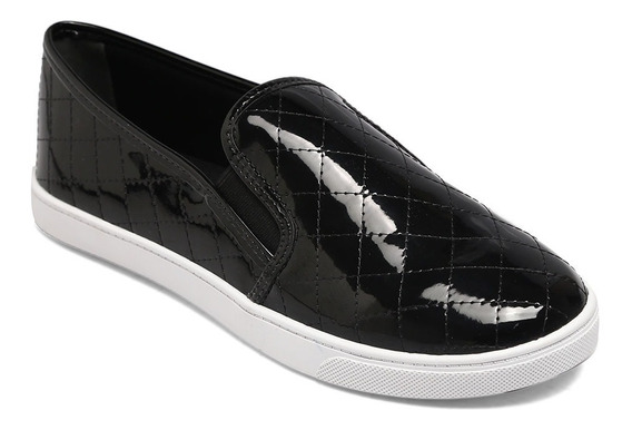 Slip On Via Uno Verniz Preto 423003seavv
