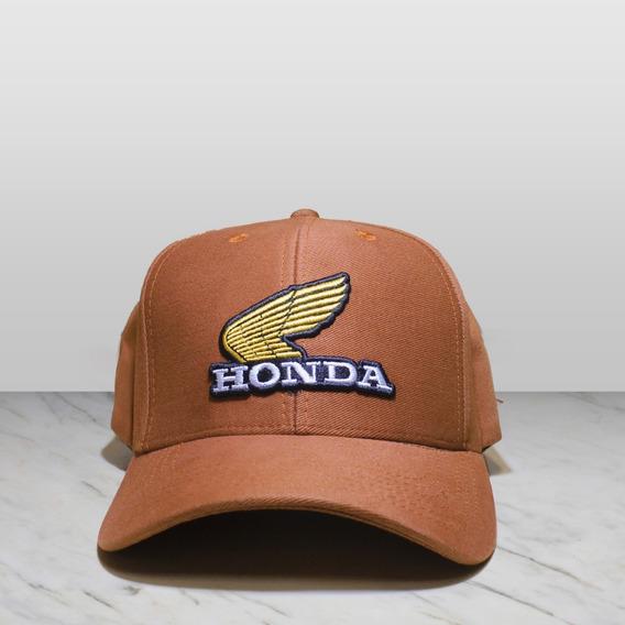 Boné Moto Honda - Bordado 3d - Marrom Terra - Coleção Vintage