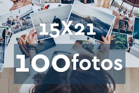 Revelação De Fotos 15x21 - 100 Unid - Grátis 4 Fotos 10x15