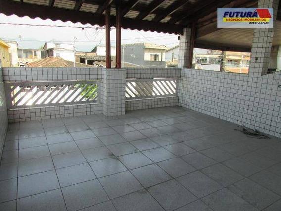 Excelente Casa Sobreposta, 2 Dormitórios 131 M², Suíte, Garagem Coberta, Terraço Com Churrasqueira No Bairro Cidade Náutica - São Vicente/sp - Ca0333