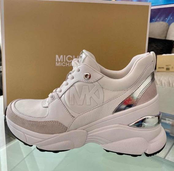 Tenis Michael Kors Original Blancos Con Plataforma