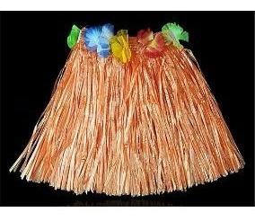 Kit 4 Saias De Havaiana 40 Cm Diversas Cores Para Carnaval