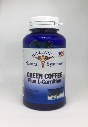 Green Coffee + L Carnitina Cafe Verde Quemador X60 Softgels