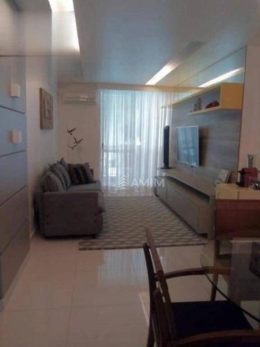 Apartamento Com 2 Dormitórios À Venda, 78 M² Por R$ 550.000,00 - Vital Brasil - Niterói/rj - Ap4132