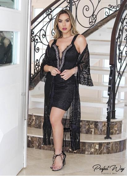 Conjunto Renda Vestido + Kimono Perfect Way 2020
