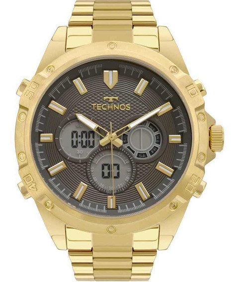 Relógio Technos Masculino Digital Analóg Dourado Bj3814ab/1p