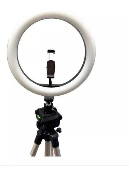 Ring Light Original Portátil Led De 26cm Com Tripé De 2,10m