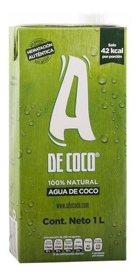 Oferta!! Agua De Coco. 1 Litro. 100% Pura Y Organica