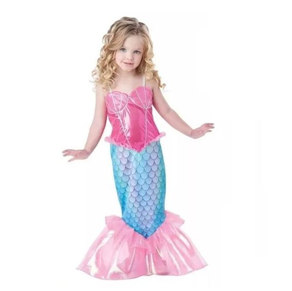 Vestido Fantasia Infantil Sereia