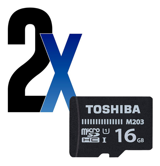 Cartão De Memória 16gb Microsdhc 100mb/s Toshiba 2un