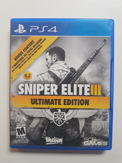 Sniper Elite 3 Ultimate Mídia Física Original Playstation 4