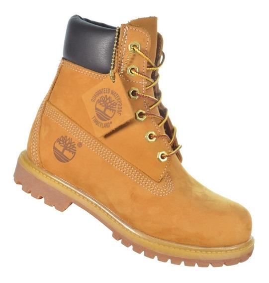 Bota Timberland Yellow Boot 6 Premium Original Marrom Escuro