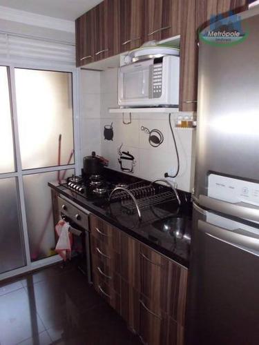 Apartamento Com 3 Dormitórios À Venda, 54 M² Por R$ 255.000 - Ponte Grande - Guarulhos/sp - Ap1078