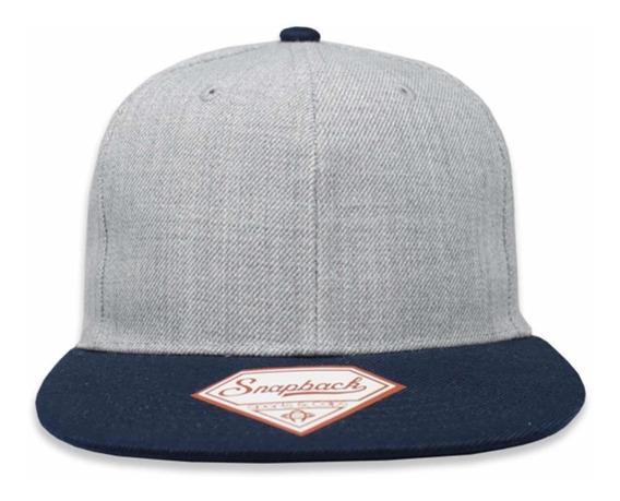 Gorra Lisa Sport Caps Snapback Jaspe/azul Marino Unitalla