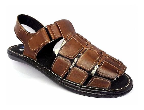 Kit 3 Sandálias Masculina 100% Couro Shoes Frete Gratis