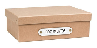 Caja Organizadora Tamaño A4 Documentos Kraft
