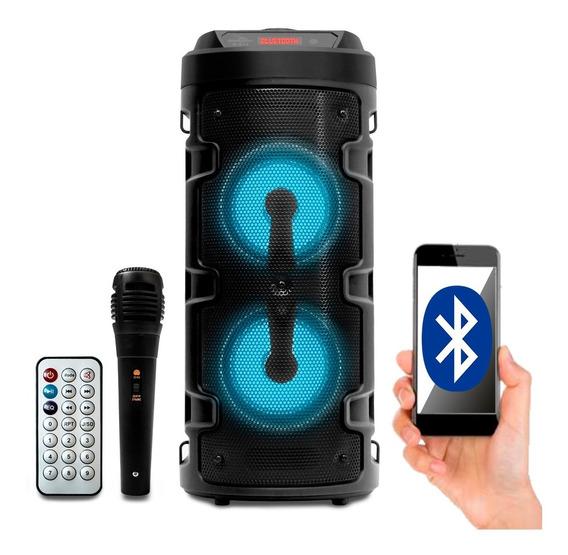 Caixa De Som Bluetooth Amplificada Portátil Bateria Usb 700w