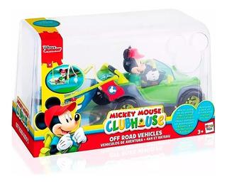 Mickey 4x4 + Barco Vehículo Bote Figura + Accesorios Disney