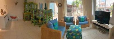Cad Villas Playa Diamante 16. Terraza Con Acceso Al Jardín. Club De Playa