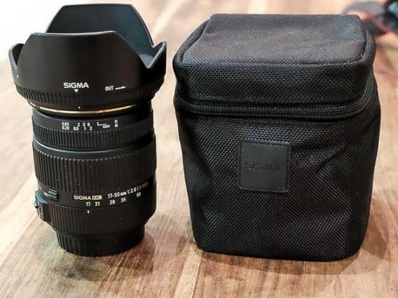 Lente Sigma 17-50mm F2.8 Canon