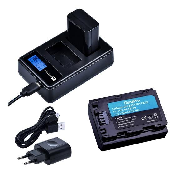 Bateria Np-fz100 + Carregador Duplo Sony A9 A7iii Fz100