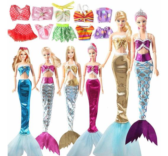 11 Conjuntos De Vestidos De Cola De Sirena Y Un Bikini Juego